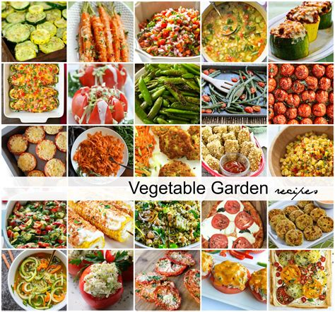 garden fresh vegetables zucchini recipes