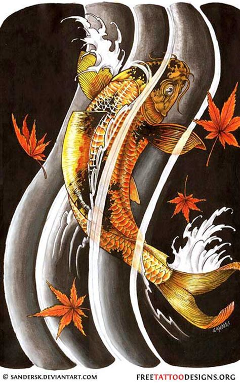 black koi fish tattoo designs 40 koi fish tattoos japanese and designs