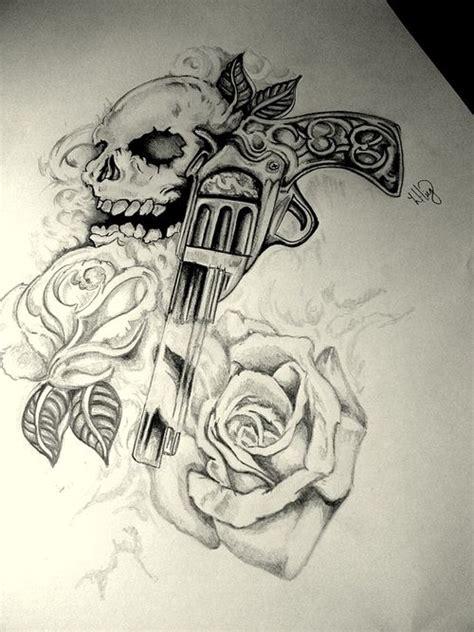 skull gun tattoo designs best 25 gun tattoos ideas on pistol gun