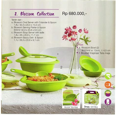 Produk Tupperware Bowl Blossom blossom collection tupperware indonesia promo katalog