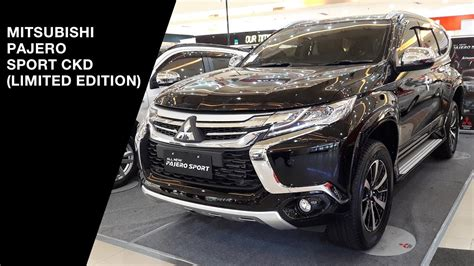 Emblem Limited Pajero Sport mitsubishi pajero sport limited edition ckd 2017 exterior and interior