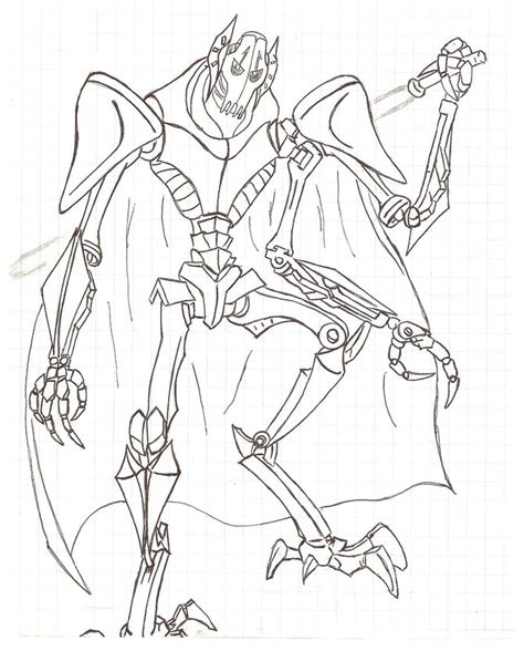 Lego General Grievous Coloring Coloring Pages General Grievous Coloring Page