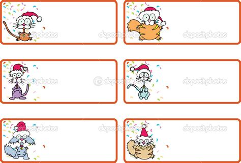 free printable christmas cat gift tags jingle cat christmas gift tags stock vector