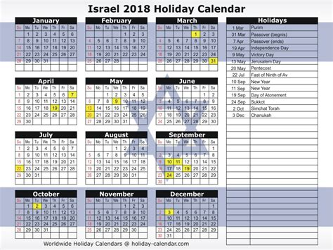 new year 2018 holidays 2018 new year hebrew calendar holidays printable
