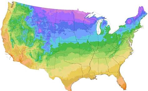 frost hardiness planting zones and growing season