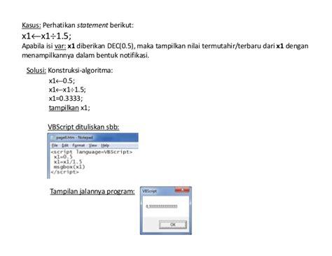 Pemrograna Vb Script About Vb Script Sns