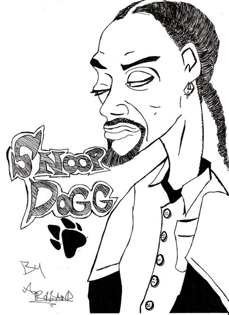 coloring page of snoop dog snoop dogg easy coloring pages