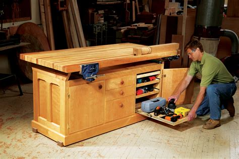 woodworkers bench aw extra dream workbench popular woodworking magazine