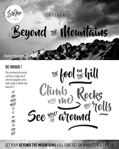 mountains font dafontcom
