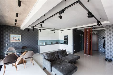 Concept For Bachelor Bedroom Ideas Bachelor S Apartment With Podiums Panoramic Windows Loft Motifs Home Interior Design
