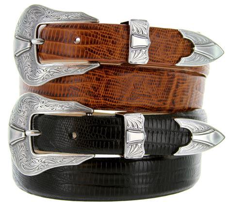 silver colorado s leather western belt
