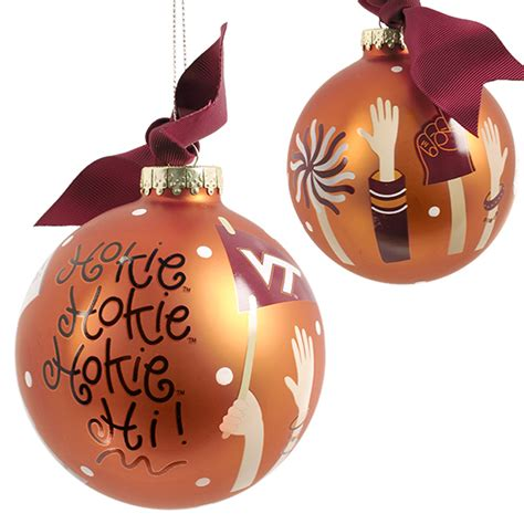 virginia tech cheer ornament