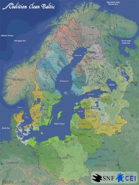 baltic sea map baltic sea river basins map baltic sea mappery