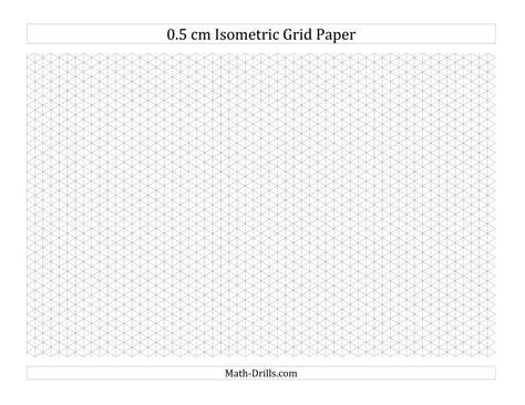 isometric graph paper printable pdf 0 5 cm isometric grid paper landscape a