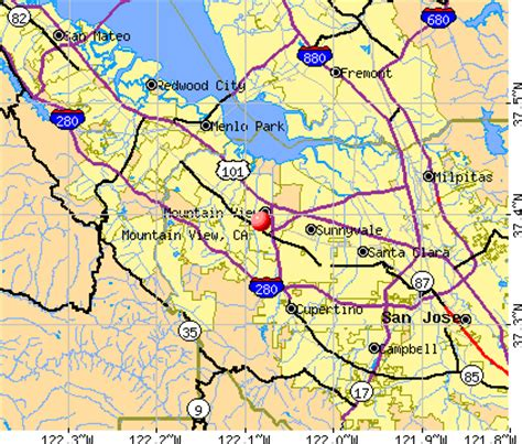 where is mountain view california on the map mountain view california ca 94041 profile population