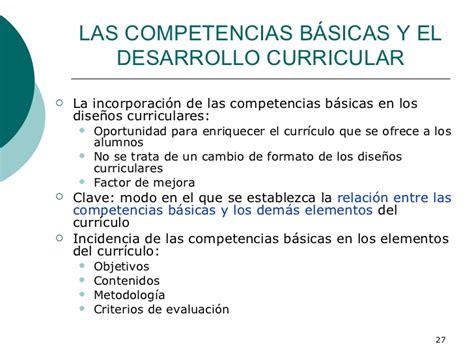 Diseño Curricular Por Competencias Ventajas Las Competencias Basicas Y El Curriculo