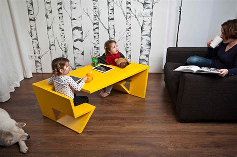 unfold table pour enfants avec assises now