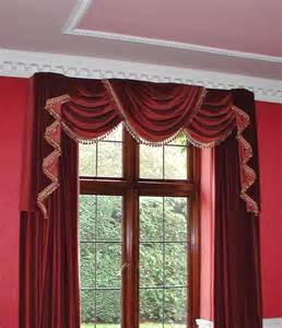Window Dressings traditional curtains traditional swags amp tails magenta