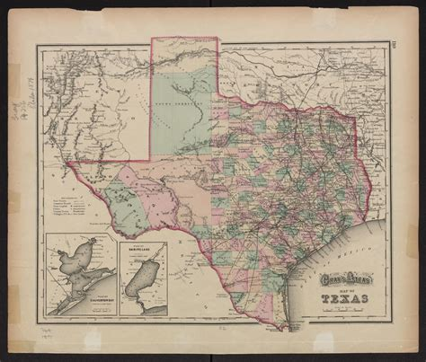 atlas texas map gray s atlas map of texas side 1 of 1 the portal to texas history