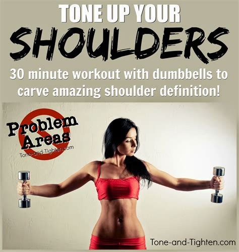 at home workout to tone your shoulders with dumbbells