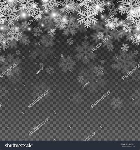 abstract pattern overlay abstract snowflakes overlay effect on transparent stock
