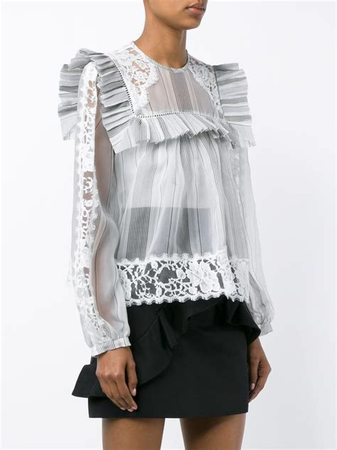 Frill Collar Blouse silk frill collar blouse endource