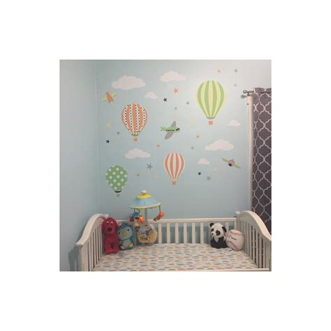 hot air balloon planes wall stickers