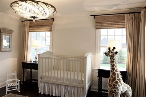 Neutral Nursery Curtains Gender Neutral Nusrery Transitional Nursery Angie Gren Interiors