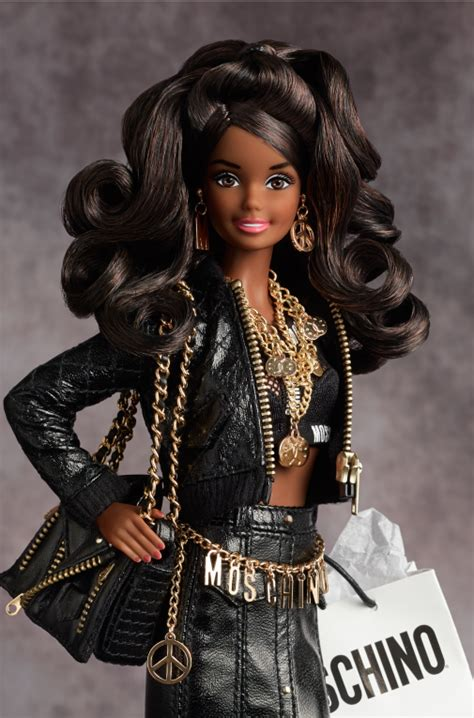 in black 2 doll collecting fashion dolls by gold moschino