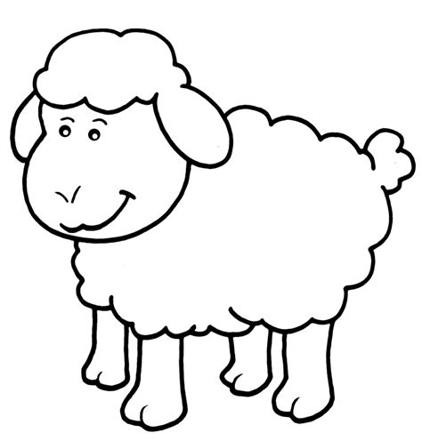 Sheep Coloring Pages 9 Coloring Sheep Colouring Page