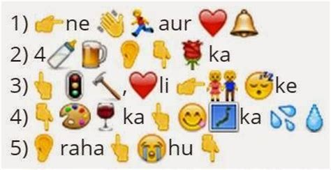 emoji bollywood film titles guess the following 19 songs from the given whatsapp