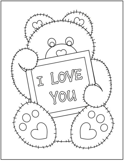 love bear coloring pages pinterest the world s catalog of ideas