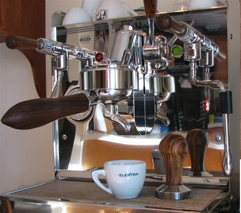 Handmade Coffee Machine - custom wood portafilter handle stylish beautiful design