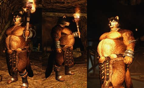 argonian and khajiit digitgrade with sos body texture at lykaios shaman by juklo fur affinity dot net