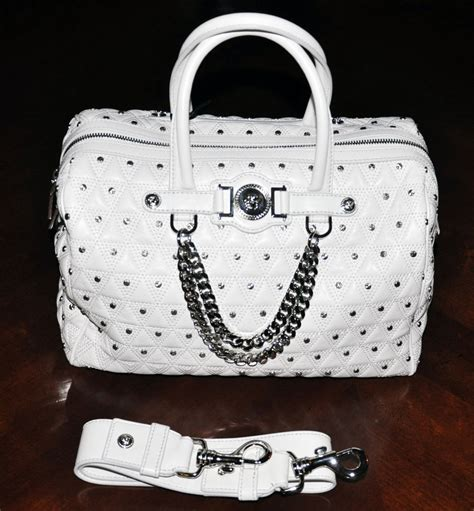 white leather bag new versace studded white leather bag ebay