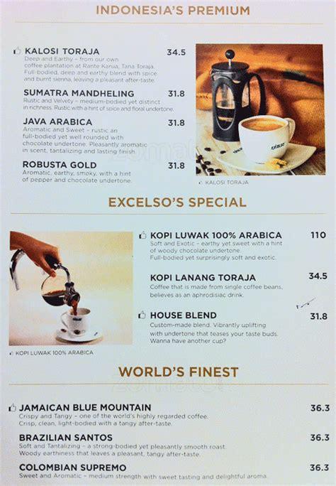 Harga Ad 2 harga menu excelso coffee lengkap pesan antar terbaru 2017