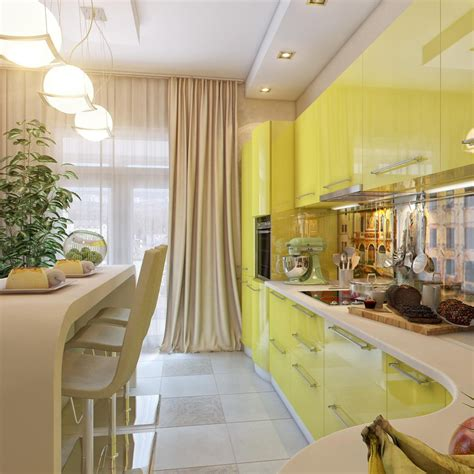 yellow and white kitchen cabinets yellow white kitchen dining space interior design ideas