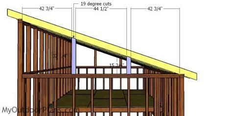 lean  shed  loft roof plans myoutdoorplans