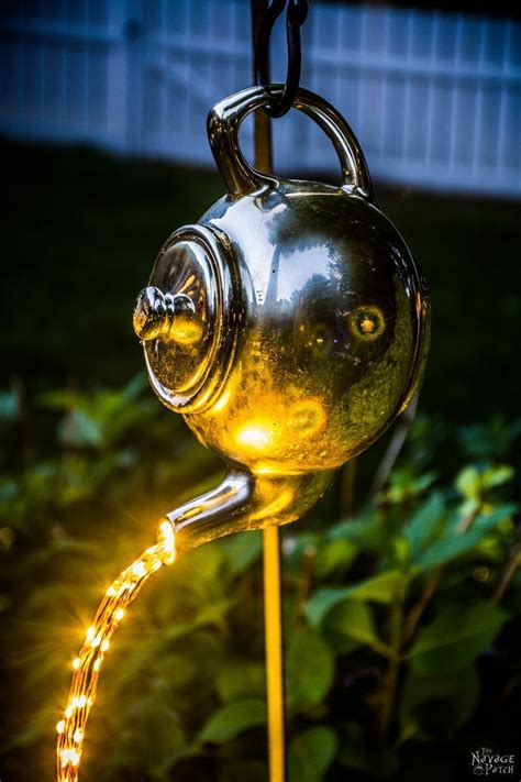solar lights and more diy spilling solar lights teapot lights easy budget