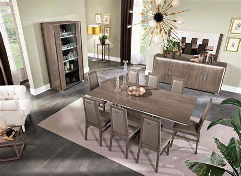 glossy brown finish dining room set  buffet china