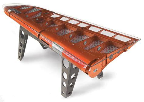 part desk aviation inspired desks made of salvaged airplane parts