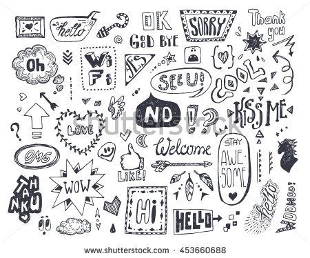 doodle words doodle sketch stock images royalty free images vectors