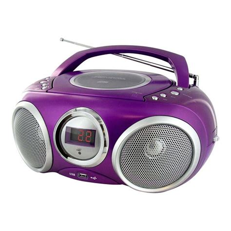 posta mps lecteur radio cd mp3 usb violet chaine hi fi avis et