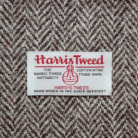 Grey And White Upholstery Fabric Dark Grey Herringbone Harris Tweed Lampshade By Quirk