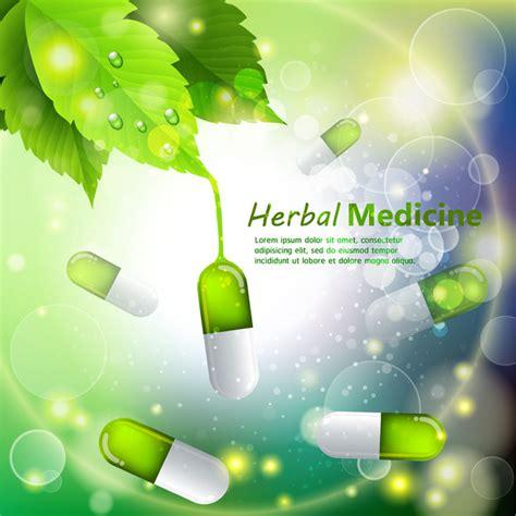herbal medicine template design  capsules  bokeh