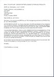 complaint letter format for poor quality material