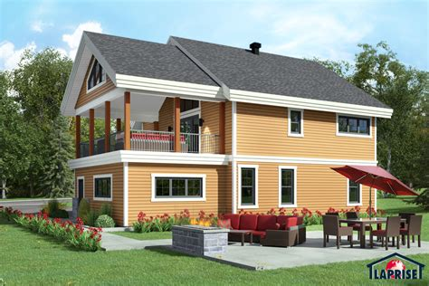 country style homes w3006 maison laprise prefabricated homes designer country style homes chalet waterfront homes