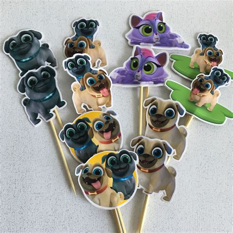 puppy pals names puppy pals cupcake toppers inspired