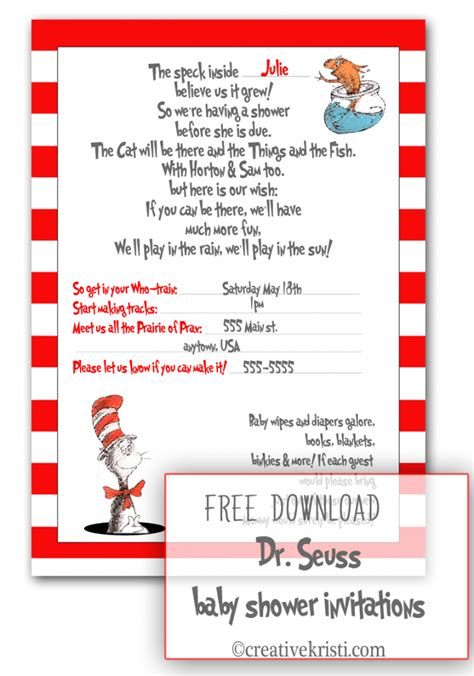 Dr Seuss Baby Shower Poems by Free Pdf Dr Seuss Baby Shower Invitations