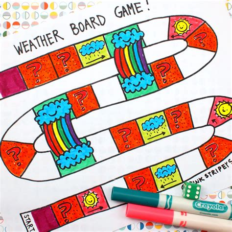 printable toddler board games printable weather board game pink stripey socks